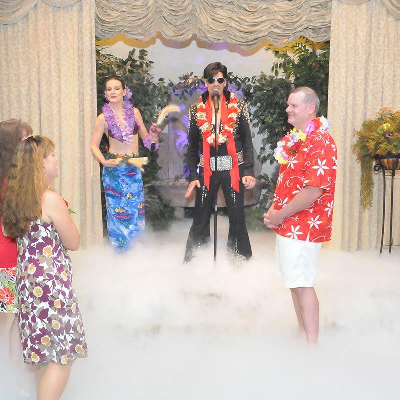 Blue Hawaii Wedding The Elvis Wedding Chapel
