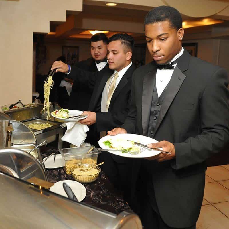 Casual Buffet Reception The Elvis Wedding Chapel