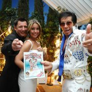 Elvis Garden At Night Wedding