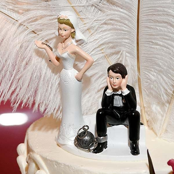 """Ball & Chain"" Cake Topper"